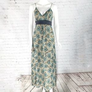 NWOT-Alyn Paige Strappy/Belted Floral Maxi Dress.
